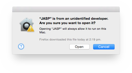 Mac Installation Guide - JASP - Free and User-Friendly