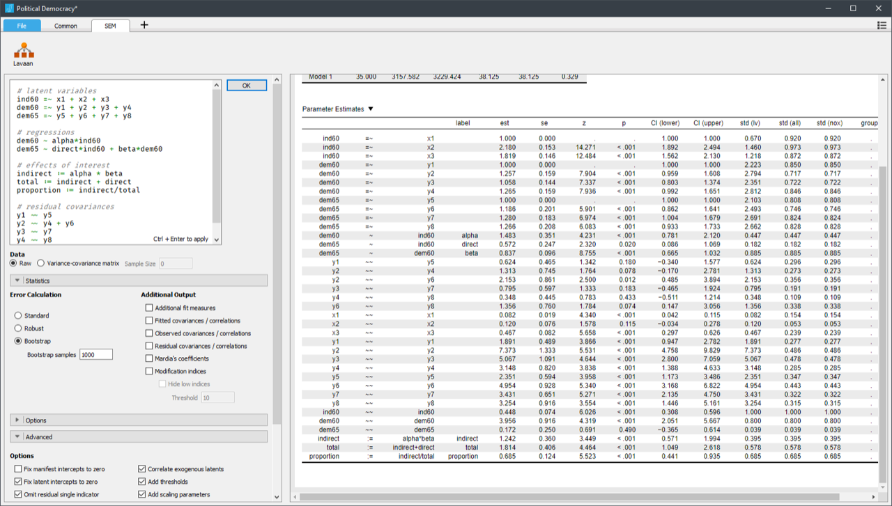 How to Perform Structural Equation Modeling in JASP - JASP - Free
